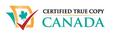 Certified True Copy Canada Logo